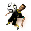 Football player 3d illustration — Stock Photo