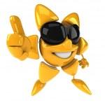 Sun in sunglasses 3d illustration — Stock Photo #4397793
