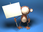 Monkey to insert your text — Stock Photo