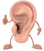 Ear 3d illustration — Stock Photo