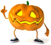 Pumpkin 3d halloween illustration — Stok fotoğraf