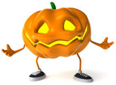 Pumpkin 3d halloween illustration — Foto de Stock
