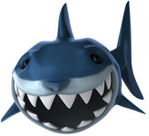 Shark 3d illustration — Stock Photo
