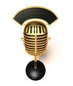 Retro mikrofon — Stok fotoğraf