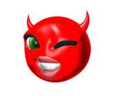 Devil smilie — Stock Photo