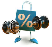 Shopping power 3d illustration — Stock Photo
