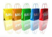 Shopping bags 3d illustration — Stock Photo