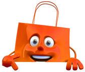 Shopping bag 3d illustration — Stock Photo