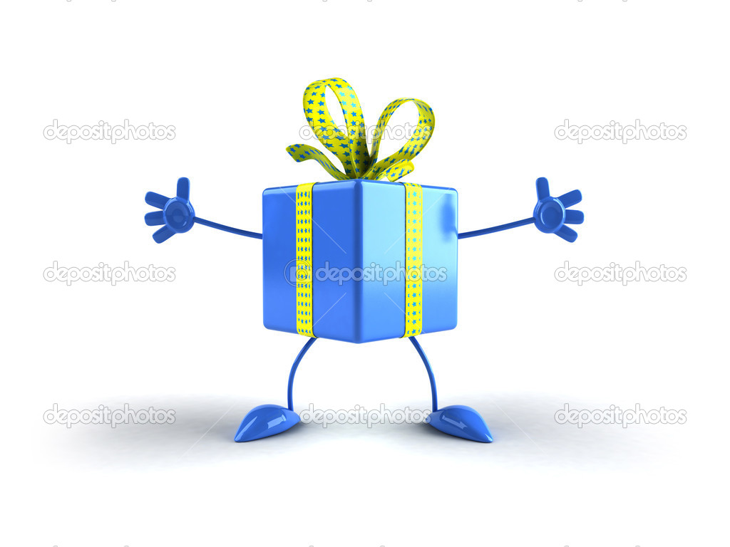 Gift blue  Stock Photo #4394840