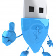 Usb connect 3d illustration - Stock Photo