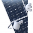 Stock Photo: solar panel 3d illustration