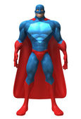 Superhero 3d illustration — Stockfoto