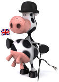 English cow 3d illustration — Stock Photo