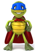 Turtle superhero 3d illustration — Stock Photo