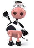 Funny cow 3d illustration — Stockfoto