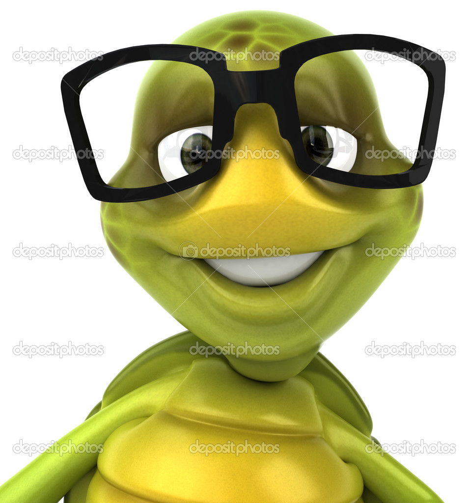 Franklin The Turtle With Glasses