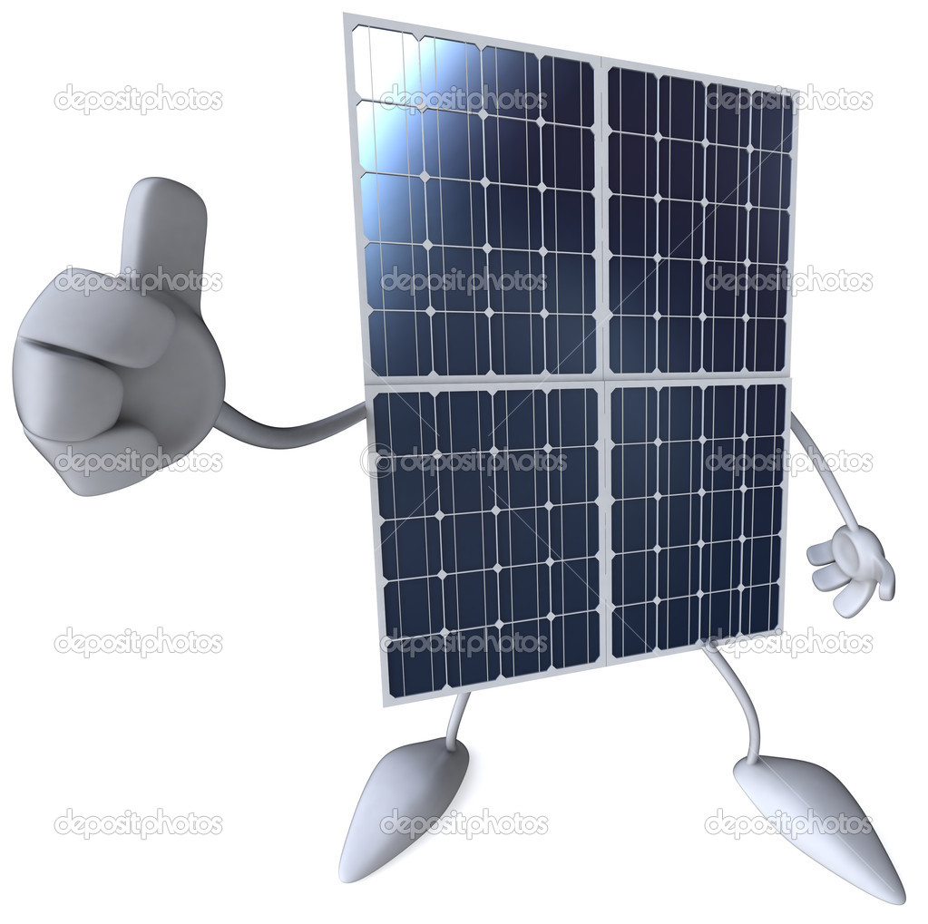 Solar panel 3d illustration — Stock Photo #4401510