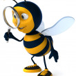 Happy bee 3d illustration — Stok fotoğraf