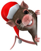 Christmas mouse 3d illustration — Stock Photo