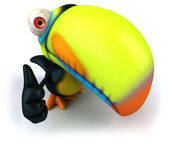 Toucan 3d illustration — Stock Photo