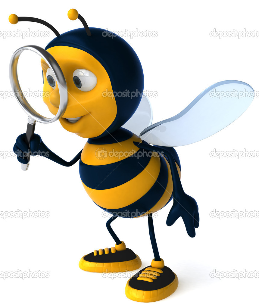 Happy bee 3d illustration — Stock Photo #4415335