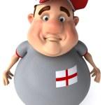 Fat guy 3d illustration — Stock Photo
