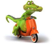 Motorbyke Crocodile 3d illustration — Stock Photo