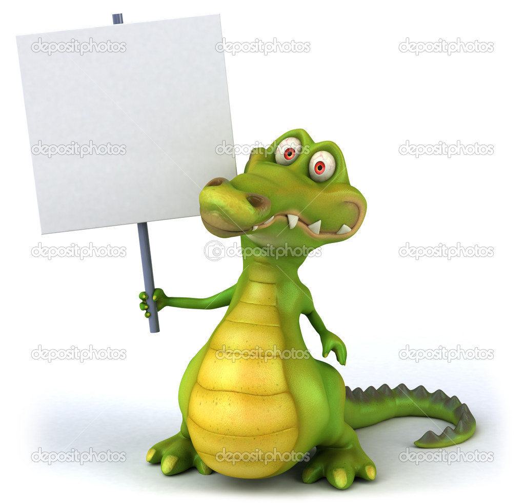 Crocodile 3d illustration  Stock Photo #4517058