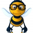 Stock Photo: Sad bee 3d illustration