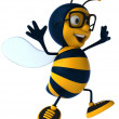 Royalty-Free Stock Photo: Happy bee 3d illustration