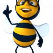 Happy bee 3d illustration — Stock Photo
