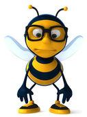 Sad bee 3d illustration — Stock Photo