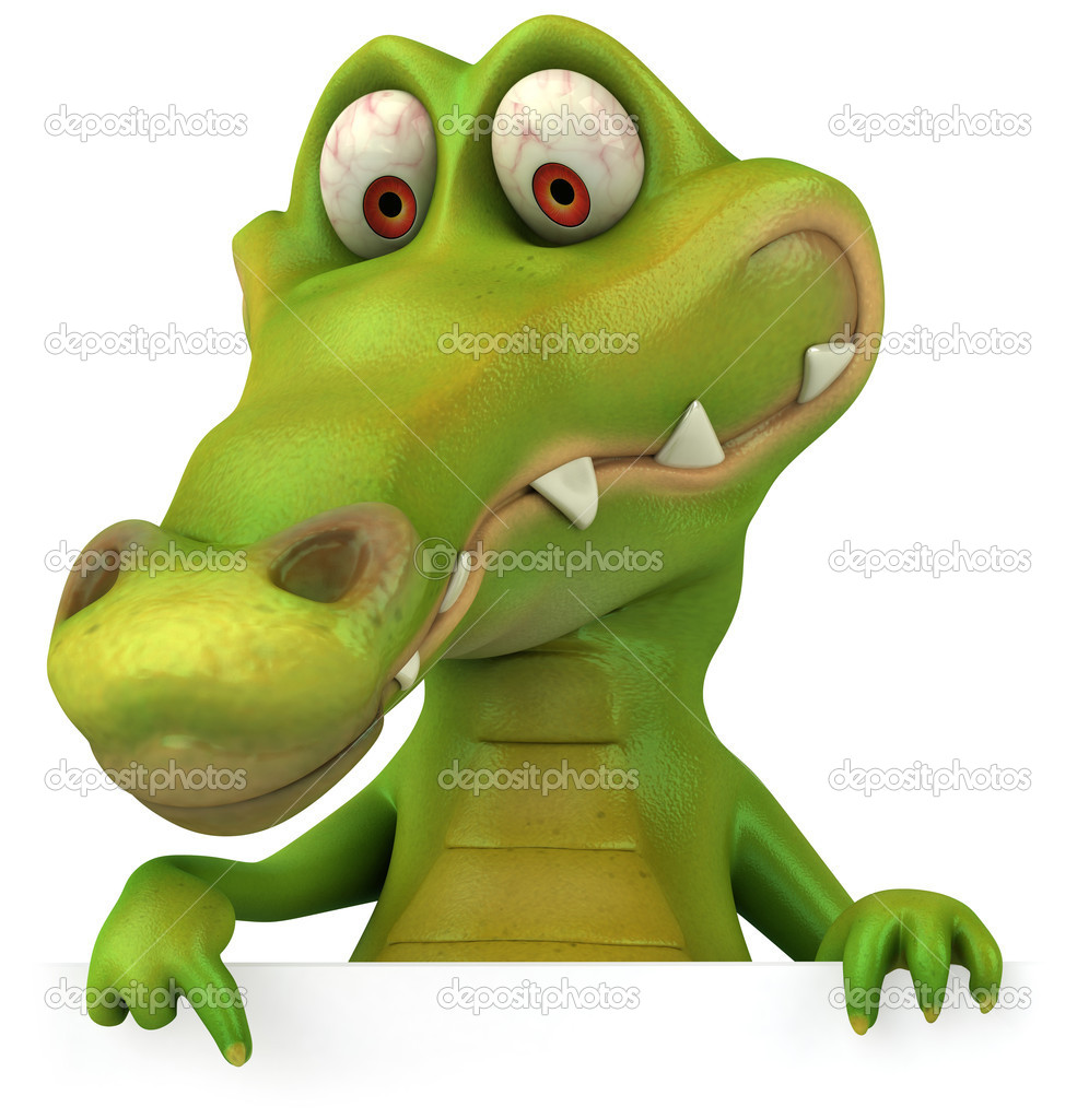 Crocodile 3d illustration — Stock Photo #4586550