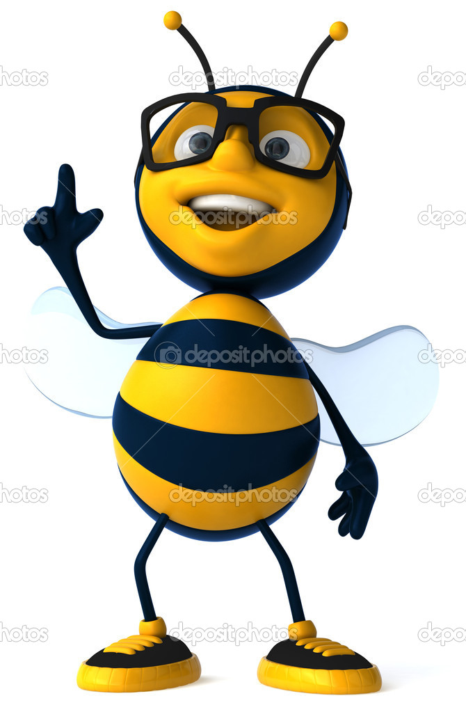 Happy bee 3d illustration — Stock Photo #4586592