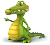 Crocodile 3d illustration — Stock Photo