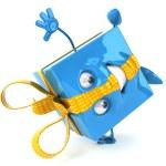 Happy gift box 3d illustration — Stock Photo