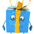 Stock Photo: Unhappy gift box 3d illustration