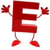 Alphabet, abc E 3d illustration — Stock Photo