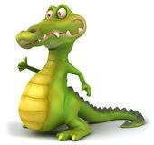 Crocodile 3d illustration — Stock Photo