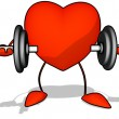 Heart with weights  — Stockfoto