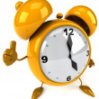 Alarm clock 3d illustration - Stock Photo