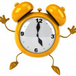 Alarm clock 3d illustration — Stock Photo