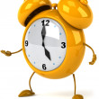 Alarm clock 3d illustration — Foto Stock