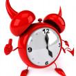 Evil alarm clock - Stock Photo