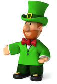 Fun Irish leprechaun — 图库照片