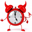 Evil alarm clock — Stock Photo #5288854