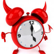 Evil alarm clock — Stock Photo #5288860