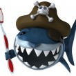 Shark pirate — Stock Photo