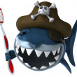Shark pirate - Stock Photo
