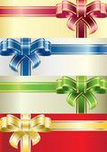 Coloured bows — Stock Vector